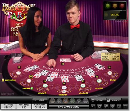 Blackjack party at Leo Vegas
