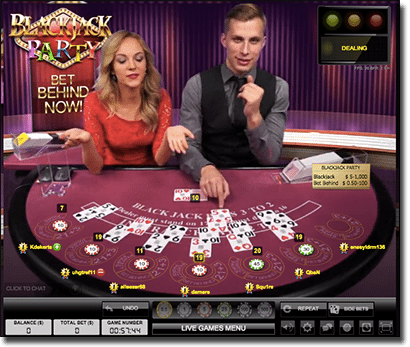 Evolution Gaming Blackjack Party live dealer 21