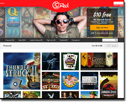 32Red browser based casino
