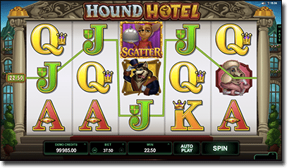 Hound Hotel online pokies by Microgaming