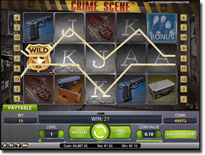 NetEnt's Crime Scene real money online pokies