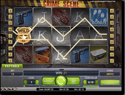NetEnt's Crime Scene real money online pokies