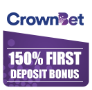 Sign up to Crownbet for 150% first deposit bonus