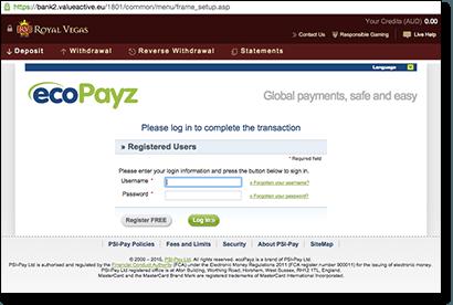 ecoPayz online gambling deposits