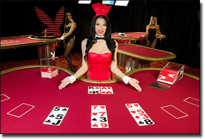 Playboy Bunny live dealer casino games by Microgaming