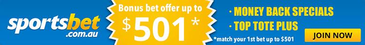 Bonus bet offers for Sportsbet.com.au