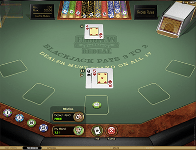 Microgaming's European Blackjack Redeal