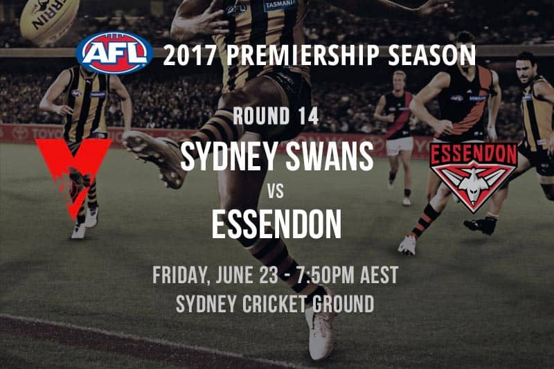Swans vs. Bombers Round 14 betting preview & Same Game multi pick